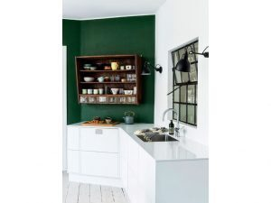 Cucina-parete-verde